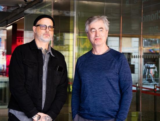 Foto Denis Côté i Steve James